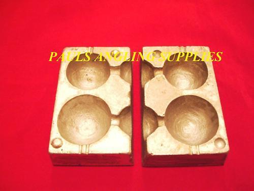 laiton 100 Boucles La pêche maritime 2 en 1 Ball Bateau Plomb poids Moule 6+8 OZ