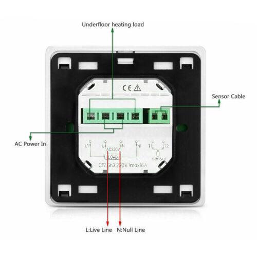 Raumthermostat digital Raumtemperaturregler LCD Raumregler Fußbodenheizung DE