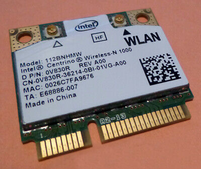 Dell Mini PCI Express Half Height V830R WLAN WiFi 802.11n Wireless Card XPS L501x