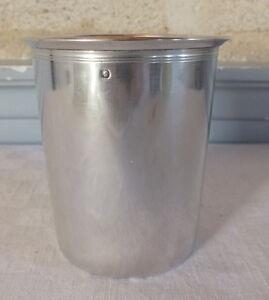 Grosse-Becherfoermiger-Behaelter-Massiv-Silber-Minerve-Silber-Cup-160-Gramm