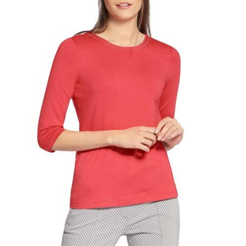 Basler Womens Orange Embellished Crew Neck Tee T-Shirt Top 22 BHFO 1250