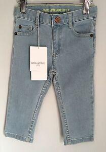 Zadig-amp-Voltaire-Little-Designer-Baby-Jeans-Pale-Blue-Denim-BNWT-Size-12-Months