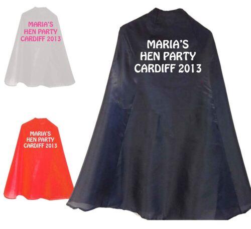 Maria è Nubilato Personalizzata SUPER EROE Cape il tuo nome Costume