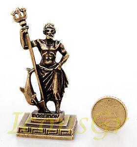 Ancient Statue Athena Greek Miniature Olympian God Pantheon Sculpture  Zamac  S
