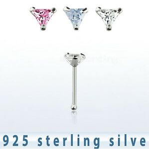 22g-3mm-Triangle-CZ-Prong-Set-Nose-Bone-925-Sterling-Silver-Nose-Ring-Stud-1pc