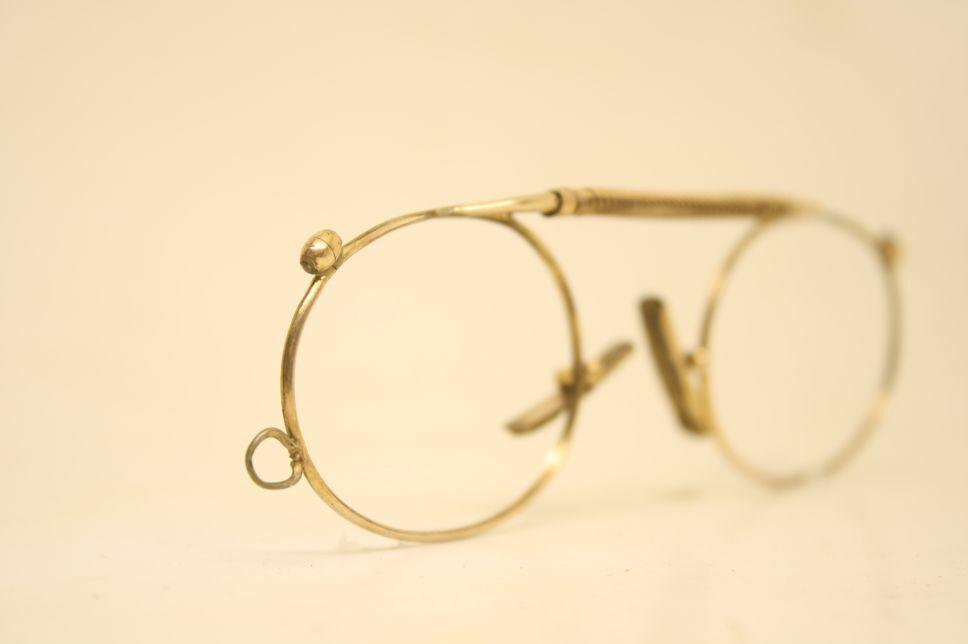 Antique Vintage Rolled Gold Frameless Pince Nez