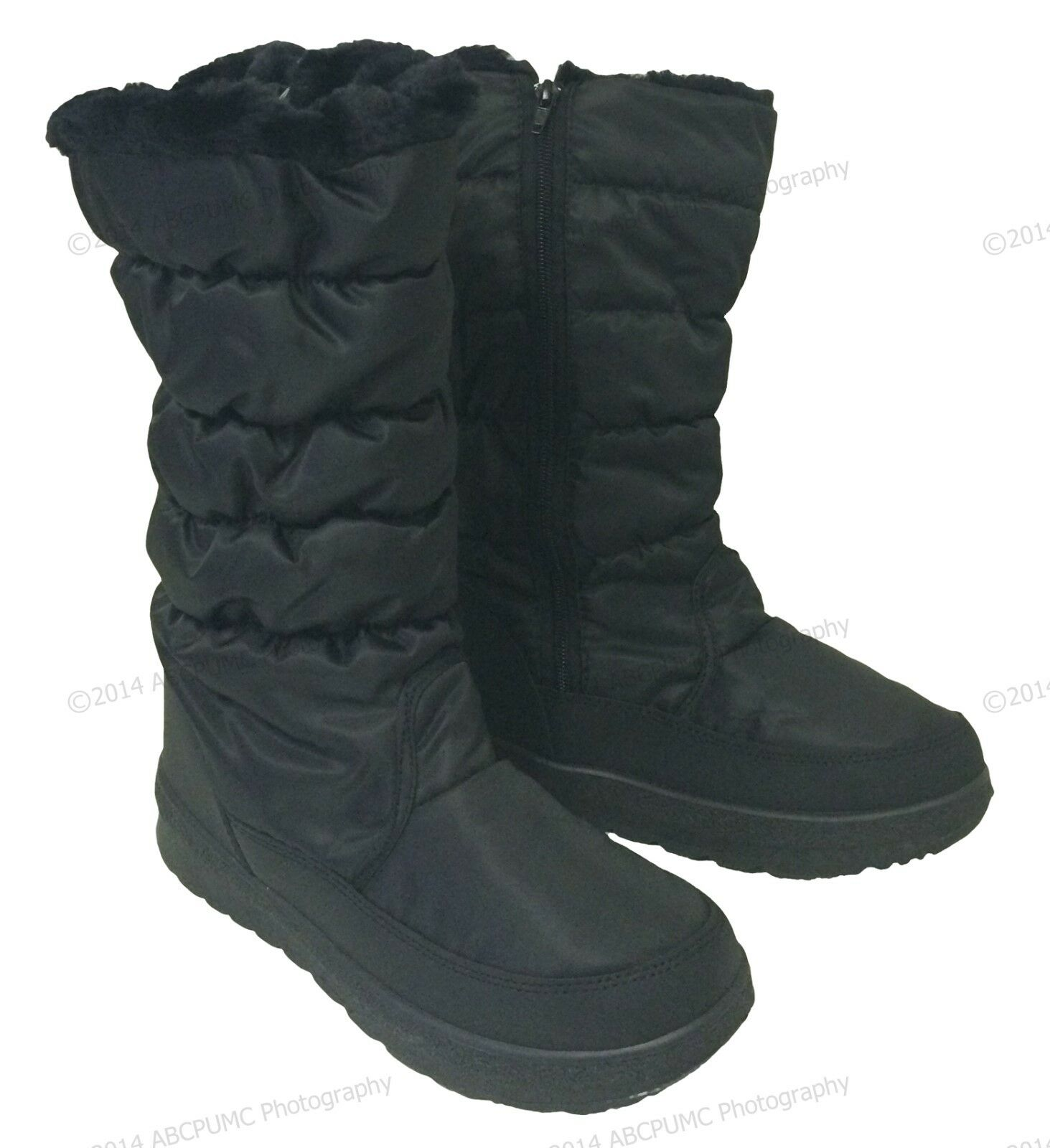 Women's Winter Boots Fur Lined Insulated Waterproof Zipper Ski Snow Shoes Sizes