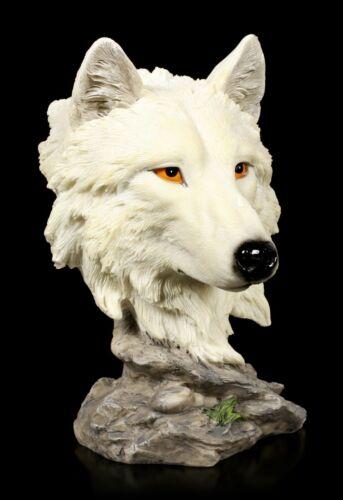 Hund Welpe Dekostatue Lonely Hunter Wolf Büste