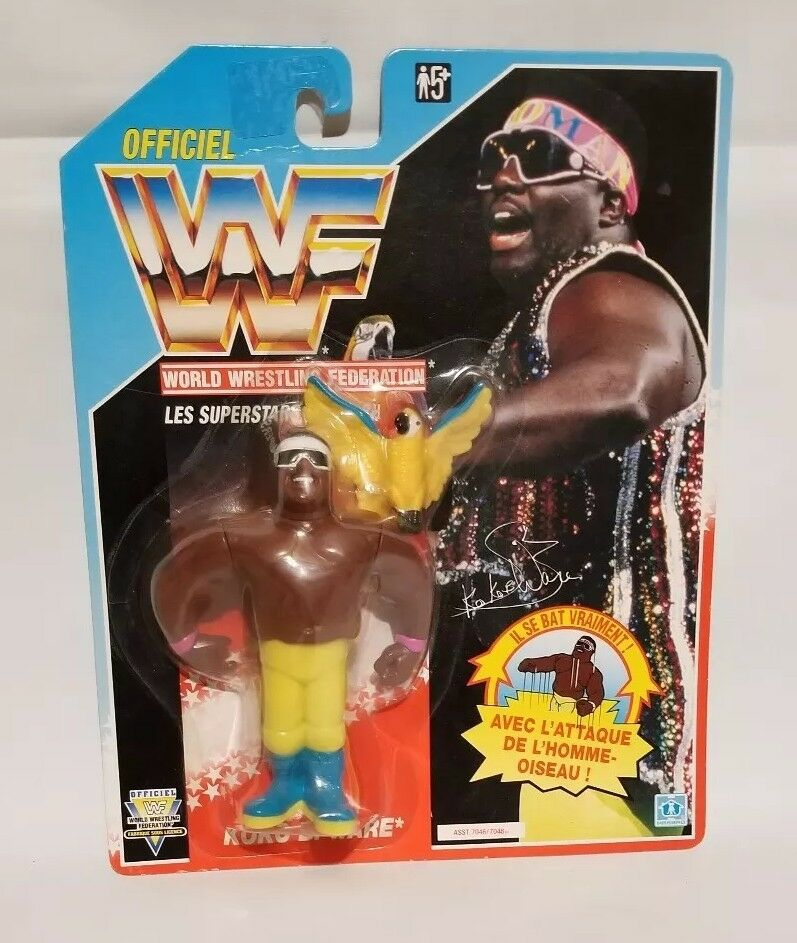 Brand New Original Koko B Ware Hasbro Foreign French Card Card Card WWF WWE Figure 85bf99