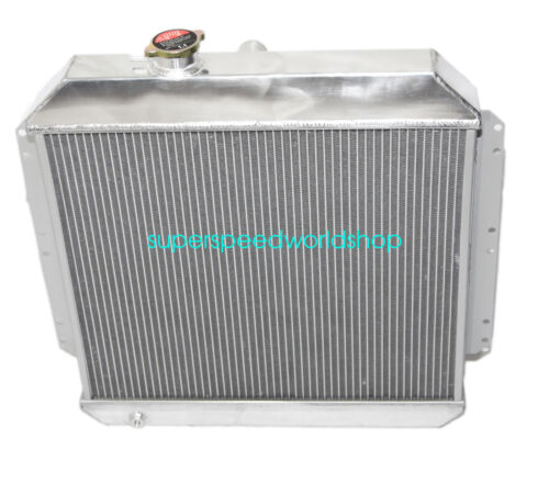 """Aluminum Racing 3 Row Radiator+12/"""" Fans fits 49-52 Chevy Styleline V8 MT"""