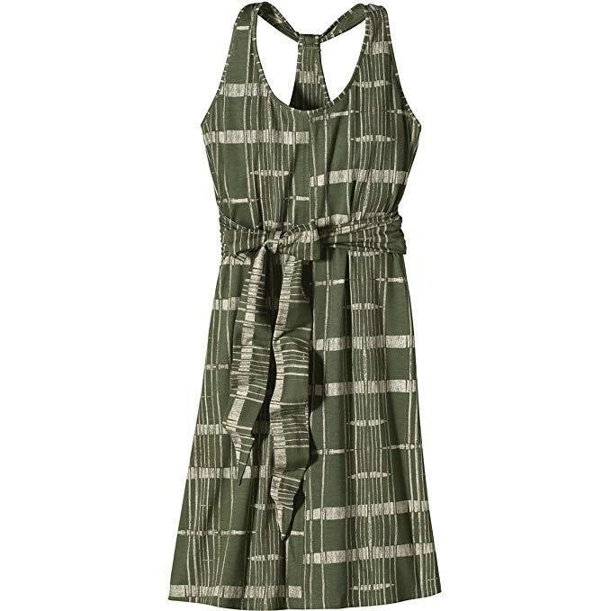 Patagonia Women's Kiawah Island Dress Winding Road Camp Green SZ Large