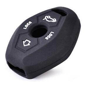 Black Silicone Skin Key Case Cover Remote Fit For BMW E81 E46 E38 X3 X5 Z3 Z4