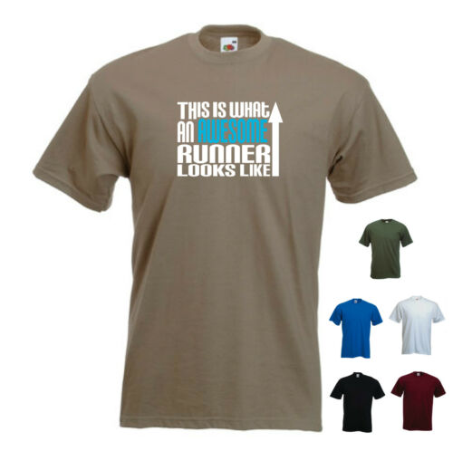 """/""""this is what an awesome runner ressemble/"""" running jogging track funny tshirt"""