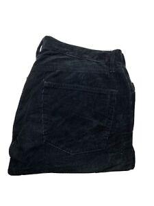 Uniqlo-Womens-Corduroy-Jeans-Size-32-x-29-Tapered-Leg-Black