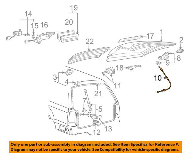 Hatch Latch Cable Linkage 01-05 VW Passat Wagon B5-3B9 827 531 A