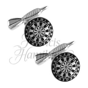 3fee4a331483 Image is loading DARTBOARD-CUFFLINKS-925-SILVER-Dart-Board-High-Quality-
