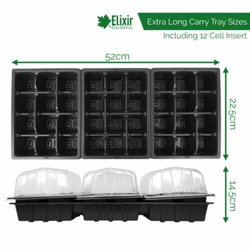 Plant Seed Starter Seedling Propagator Kit 12 Cell Inserts