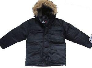 NWT Boy&amp039s Parka Coat Winter Jacket WARM COZY fur hood BLACK