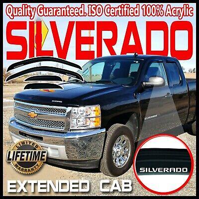 For 2007-2013 Chevrolet Silverado 1500 Side Window ... |White Silverado Window Deflectors