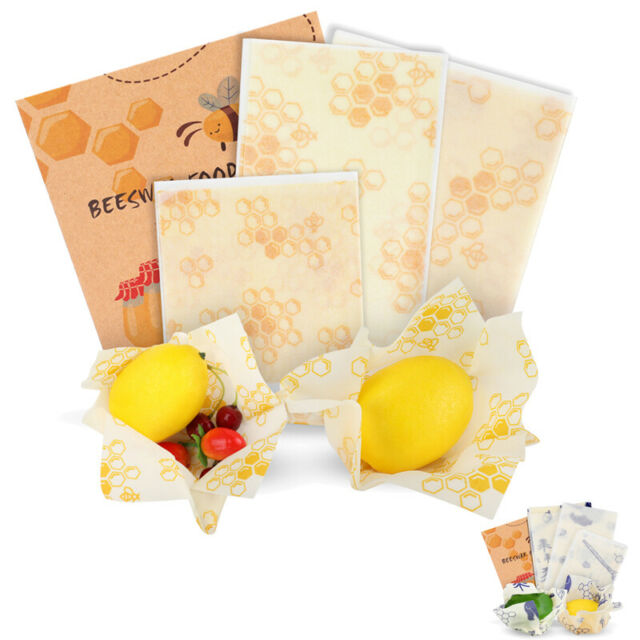 Set of 3 Beeswax Food WrapsReusable Sustainable Hygenic Bee Wax Cloth