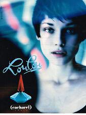 PUBLICITE ADVERTISING 064  1995  CACHAREL   parfum LOULOU