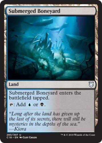 4x Submerged Boneyard NM-Mint English Commander 2018 MTG Magic