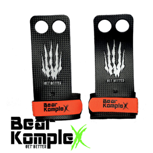 Bear KompleX Carbon Comp 2 hole Gymnastics grips Mens Large Crossfit