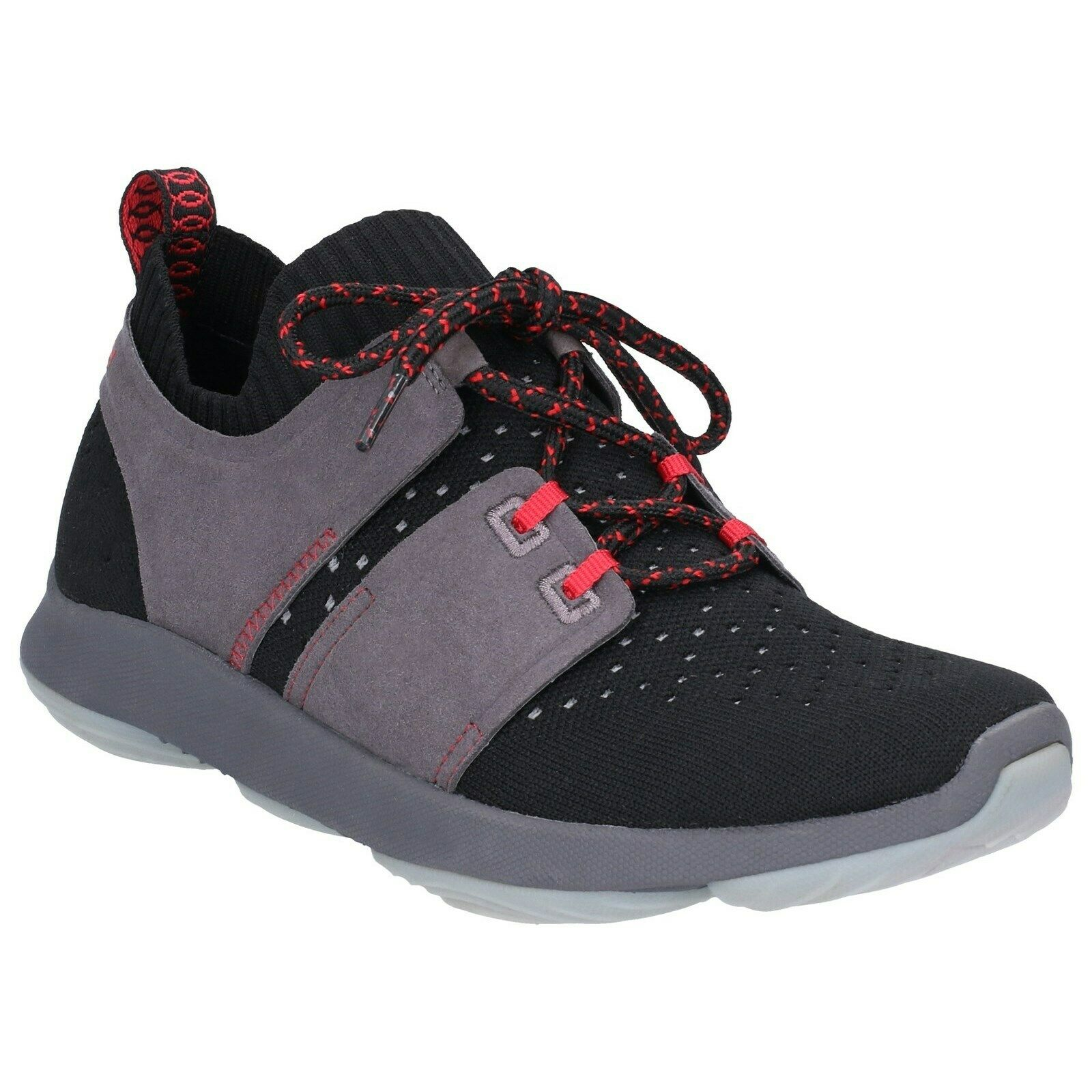 Hush Puppies World BounceMax Trainers Womens Sports BioDeWix Knit Sneakers shoes