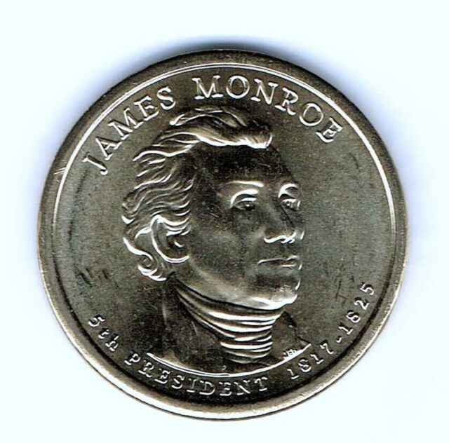 2008 James Monroe Presidential Dollar Coins BU UNC P Mint Mark