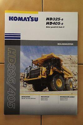 Hd405-8 Muldenkipper Seien Sie Freundlich Im Gebrauch Komatsu Baumaschinen Prospekt Hd325-8 Literatur