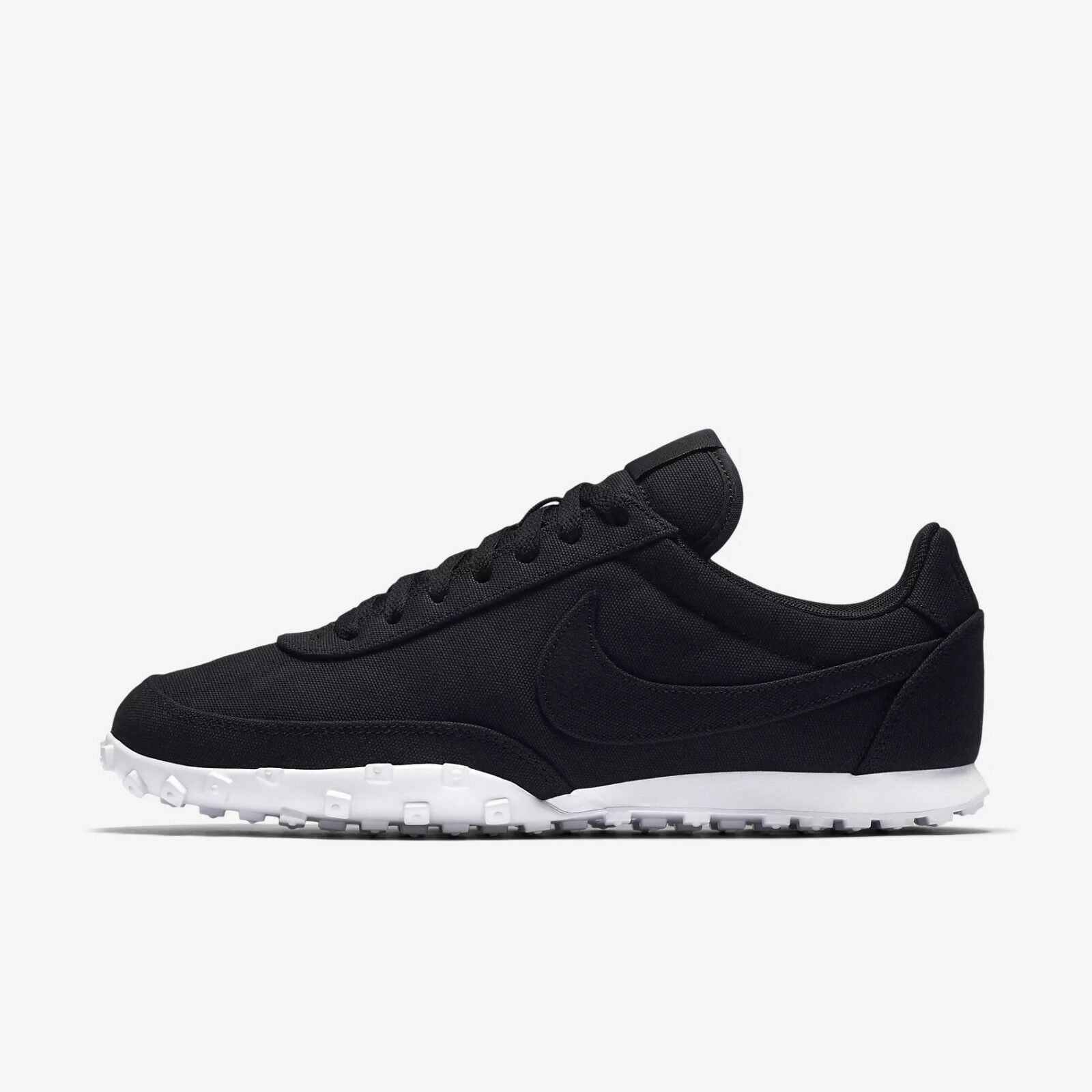 Nike Waffle Racer '17 Textile Men's Running shoes RARE - Black White 898041-002
