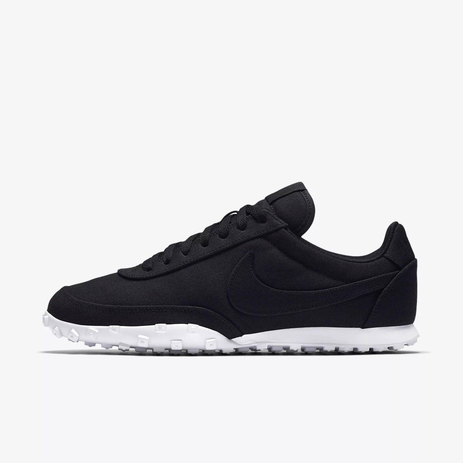 Nike Waffle Racer '17 Textile Men's Running Shoes RARE - Black White 898041-002