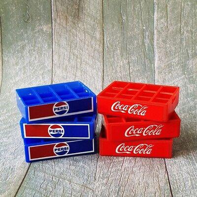 5x Pepsi Soda Drink Crate Tray Dollhouse Miniature Vintage Wholesale Mini Lot