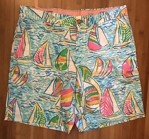 52052a22edb205 Lilly Pulitzer 34 Fitz Short You Gotta Regatta Mens Shorts Stuff ...
