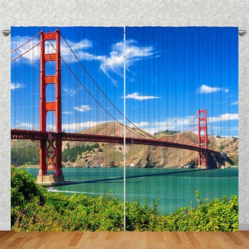 """Vorhang 2-teilig 270x245cm  /""""Golden Gate Bridge/'/' Fotovorhang Motiv Digitaldruck"""