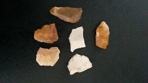 6 Flint Various Neolithic Prehistory Charente France Ze