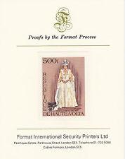 Upper Volta 3413 - 1977 SILVER JUBILE imperf on Format International PROOF  CARD