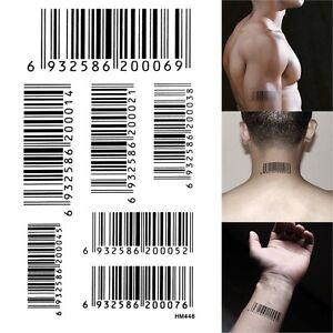 "Hitman Agent 47""bar code/UPC""props tattoo water-proof ..."