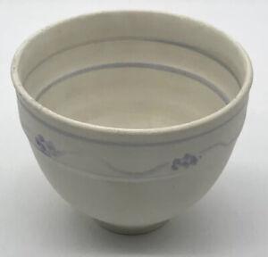 Vintage-Art-Pottery-Vase-Signed-PETERSON-Ceramic-Bowl-Blue-White-Handmade
