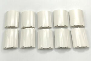 Lego-Lot-of-10-New-White-Cylinder-Quarter-4-x-4-x-6-Panels-Walls-Pieces