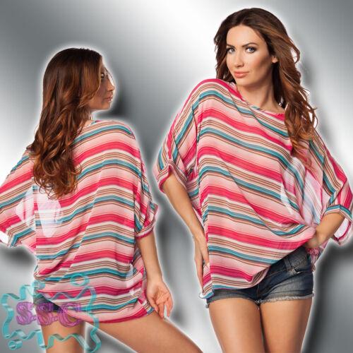 Tunika 34-40 Strand Sarong Mini Kleid Shirt Bluse Top Beach Cover Up 14610 18