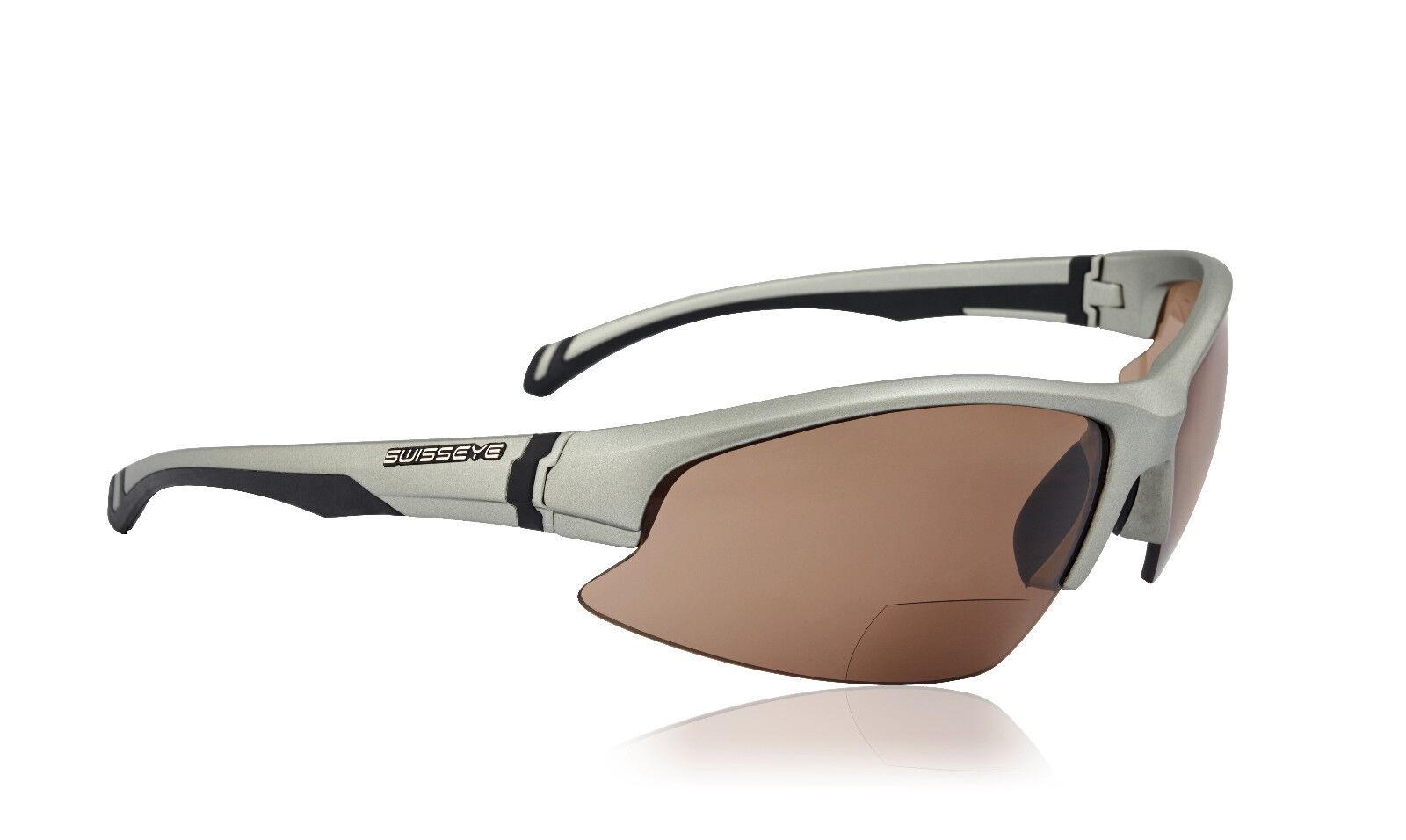 Swiss Eye Occhiali Sportivi Flash Bifo 1,5 1,5 1,5 DPT 30401 Unisex Occhiali Da Sole Argento Nuovo 753230