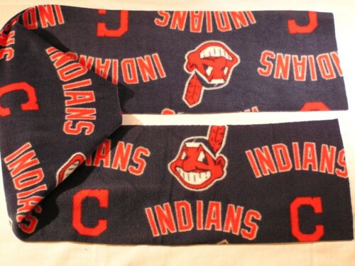 Cleveland Indians Fleece Scarf Fringed or not YOU CHOOSE!!
