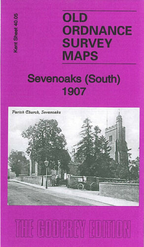 OLD ORDNANCE SURVEY MAP SEVENOAKS SOUTH 1907 LONDON ROAD HIGH STREET BULIMBA