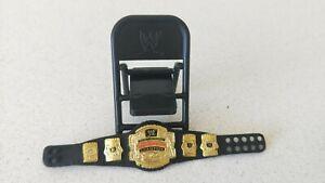 WWE-Wrestling-Cruiser-Weight-Belt-amp-Black-Foldable-Chair-Figurine-New-WO-Tag