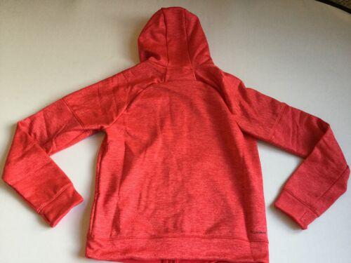 Adidas Women/'s Small Logo Full Zip Up Hoodie Jacket Red CF0011 Size M