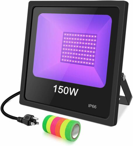 150W UV Black Light Flood Light Bulb Outdoor IP66 Thanksgiving Christmas Party