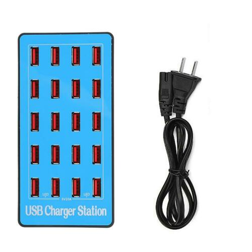 20 Ports Multi-function USB Charger Station Power Adapter 20A//5V For Travel SPS