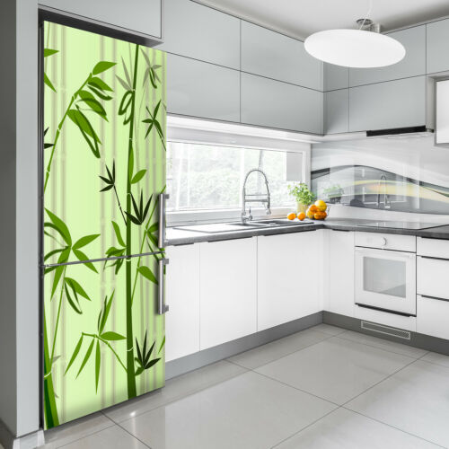 Details about  /3D Art Refrigerator Wall Kitchen Removable Sticker Magnet Flowers Plants Bamboo