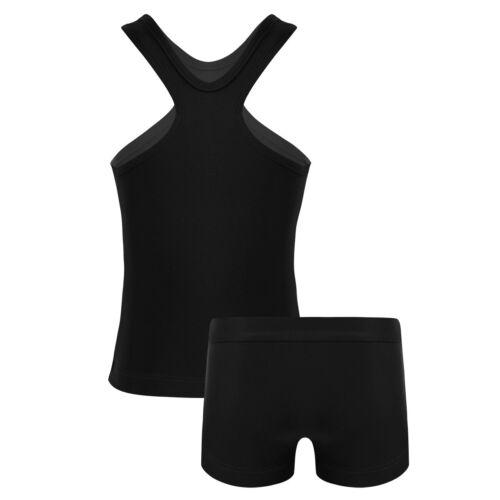 Kid Ballet Dance Leotard Top Shorts Girl Swimwear Sport Jazz Gym Dance Outfit
